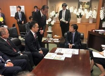 リニア中央新幹線、道路の整備促進等について要望活動を実施(2019年10月)